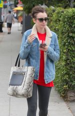 LILY COLLINS Out and About in West Hollywood 06/11/2015