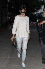 LILY COLLINS Out in Santa Monica Boulevard in Los Angeles 06/10/2015