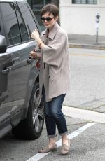 LILY COLLINS Out Shopping in Beverly Hills 06/09/2015