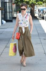 LILY COLLINS Out Shopping in West Hollywood 06/20/2015