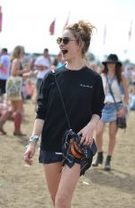 LILY JAMES at Glastonbury Festival in Glastonbury 06/27/2015