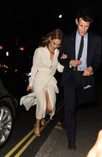 LILY JAMES Night Out in London 06/22/2015