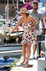 LINDSAY LOHAN Arrives at a Boat in Naples 06/27/2015