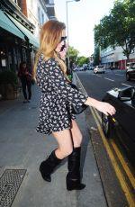 LINDSAY LOHAN Leaves a Restaurant in London 06/04/2015