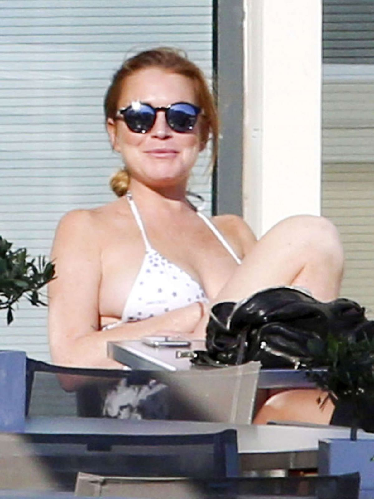 LINDSAY LOHAN on Vacation in Monaco 06/19/2015