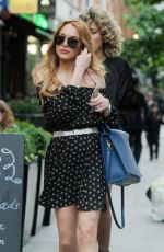 LINDSAY LOHAN Out and About in London 06/24/2015