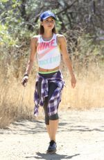 LINDSEY MORGAN Out Hiking in Los Angeles 06/26/2015