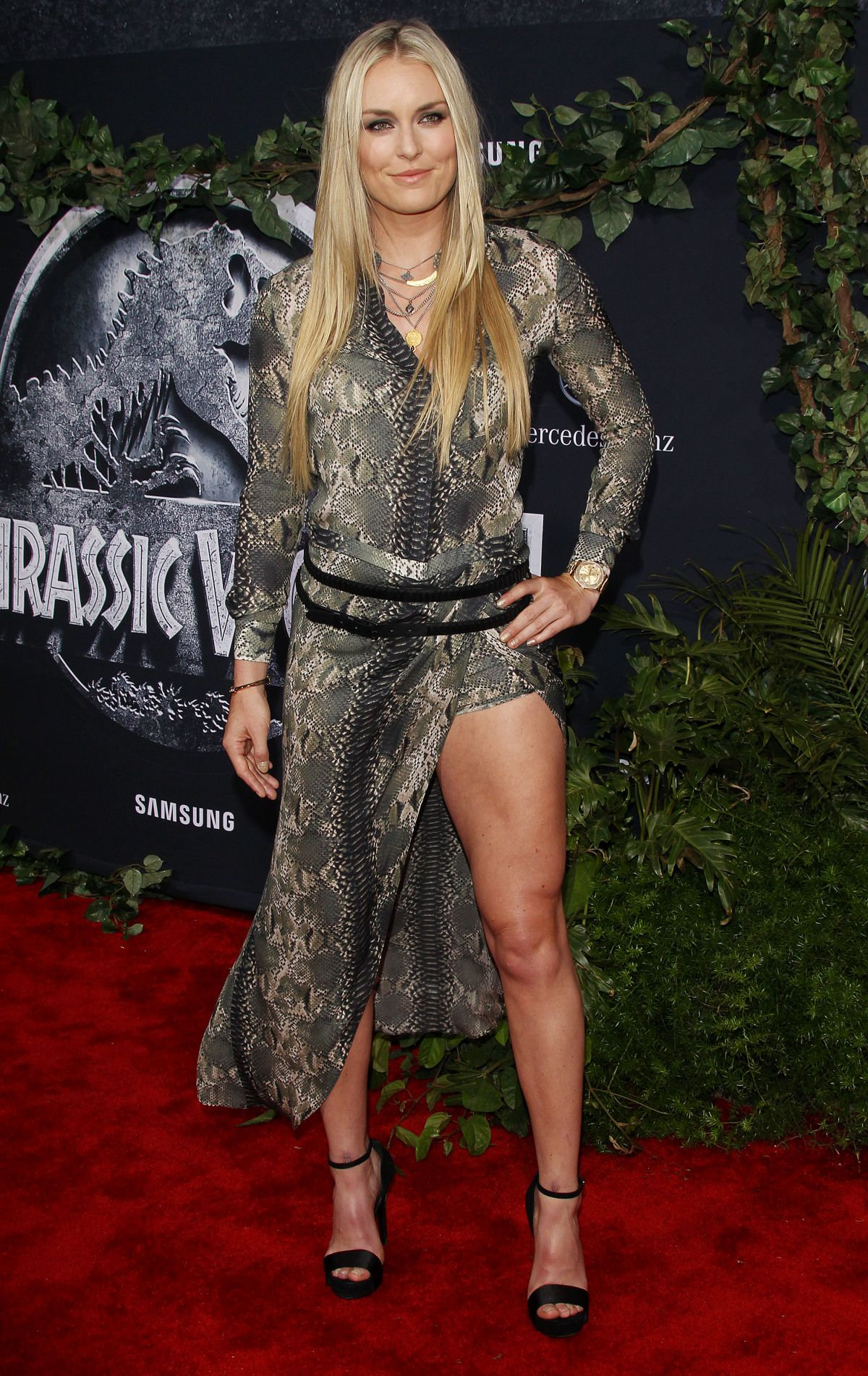 LINDSEY VONN at Jurassic World Premiere in Hollywood - HawtCelebs ...