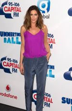 LISA SNOWDON at Capital FM Summertime Ball in London