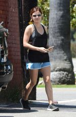 LUCY HALE Leaves a Gym in West Hollywood 06/19/2015