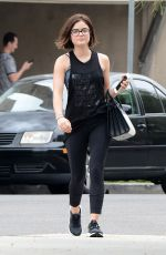 LUCY HALE Leaves a Nails Salon in West Hollywood 06/11/2015