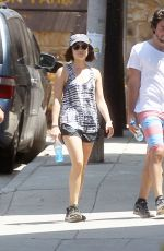 LUCY HALE Out and About in Los Angeles 06/17/2015