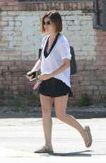 LUCY HALE Out and About in West Hollywood 06/24/2015