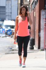 LUCY MECKLENBURGH heading to JD Sports Fashion Photoshoot