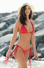 LUCY MECKLENBURGH in Bikini on the Set of a Photoshoot in Dubai 06/22/2015