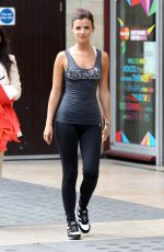 LUCY MECKLENBURGH in Tights Out and About in London 06/25/2015