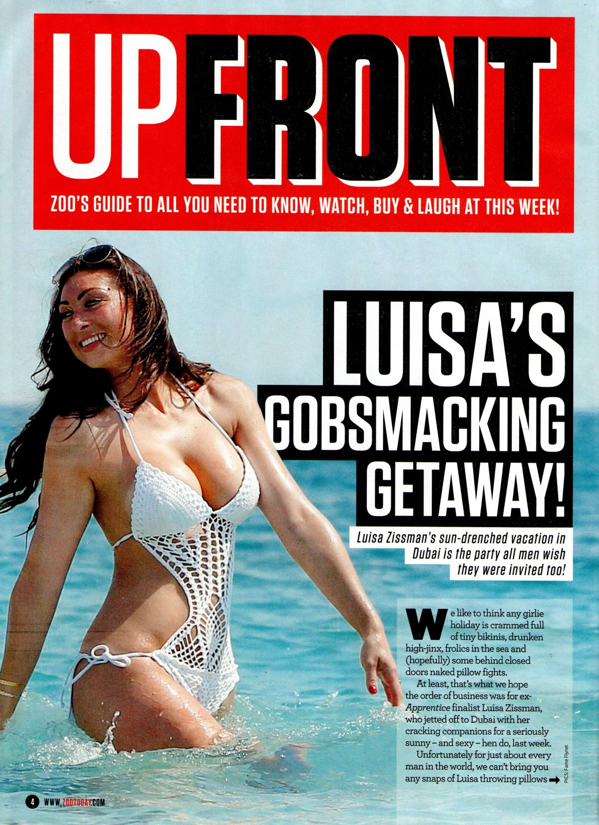 LUISA ZISSMAN - Upfront, Zoo Magazine, June 2015 Issue