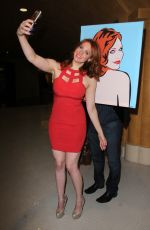MAITLAND WARD at Celebrity Selfies Art Exhibit in Hollywood