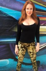 MAITLAND WARD on the Set of a Photoshoot in Hollywood 06/12/2015