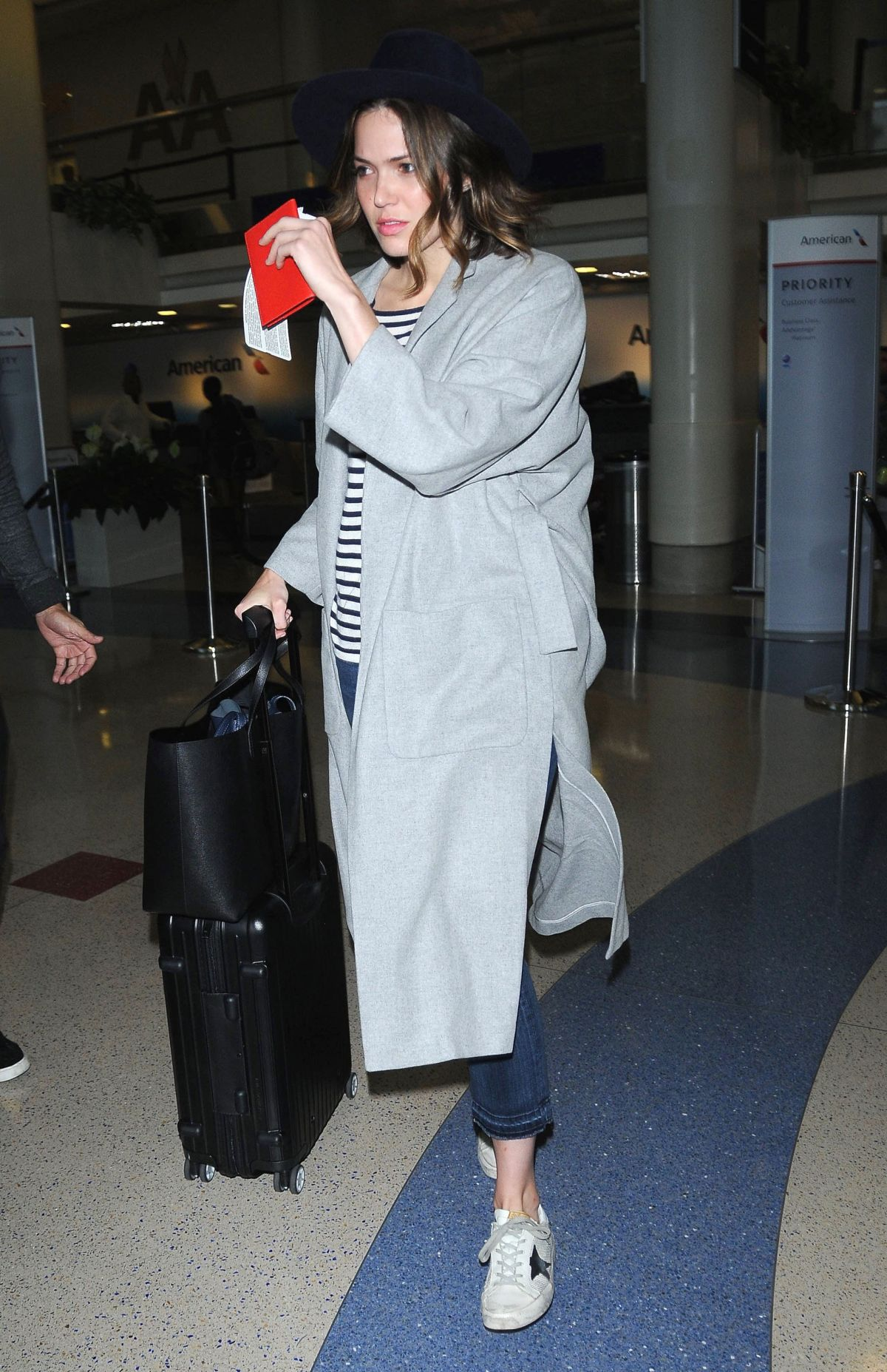 MANDY MOORE Arrives at LAX Airport in Los Angeles 06/09/2015