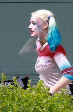 MARGOT ROBBIE on the Set of Suicide Squad in Toronto 06/07/2015