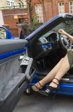 MARIA SHARAPOVA Drives a Oorsche Out in London 06/25/2015
