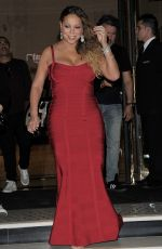 MARIAH CAREY Heading to Dinner at Rimal Lebanese Restaurant in Paris