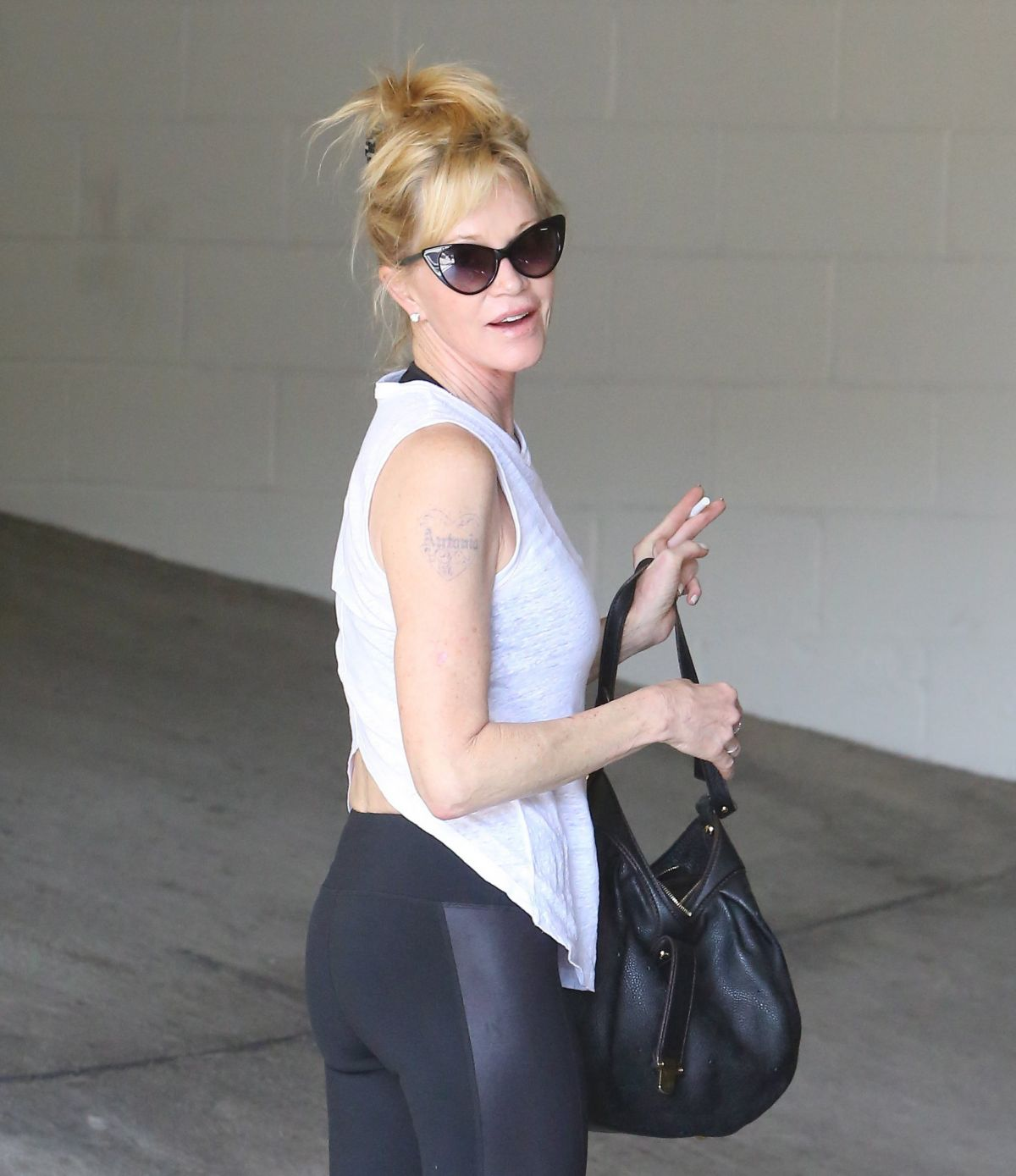 MELANIE GRIFFITH Arrives at a Gym in Beverly Hills 06/23/2015