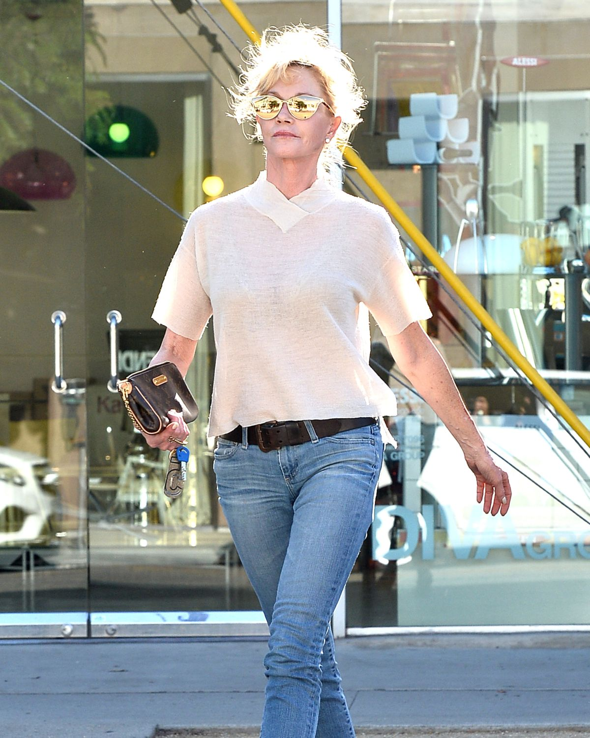 MELANIE GRIFFITH Out and About in West Hollywood 06/22/2015