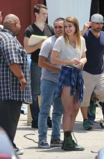 MELISSA BENOIST on the Set of Low Rides in Los Angeles 06/15/2015
