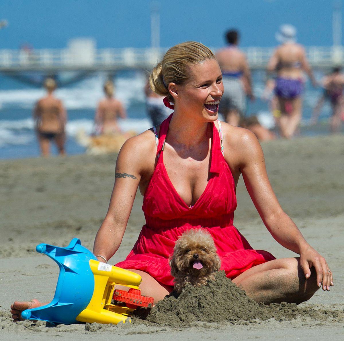 MICHELLE HUNZIKER at a Beach in Forte Dei Marmi 06/24/2015