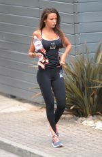 MICHELLE KEEGAN Arrives at a Gym in Essex 06/12/2015