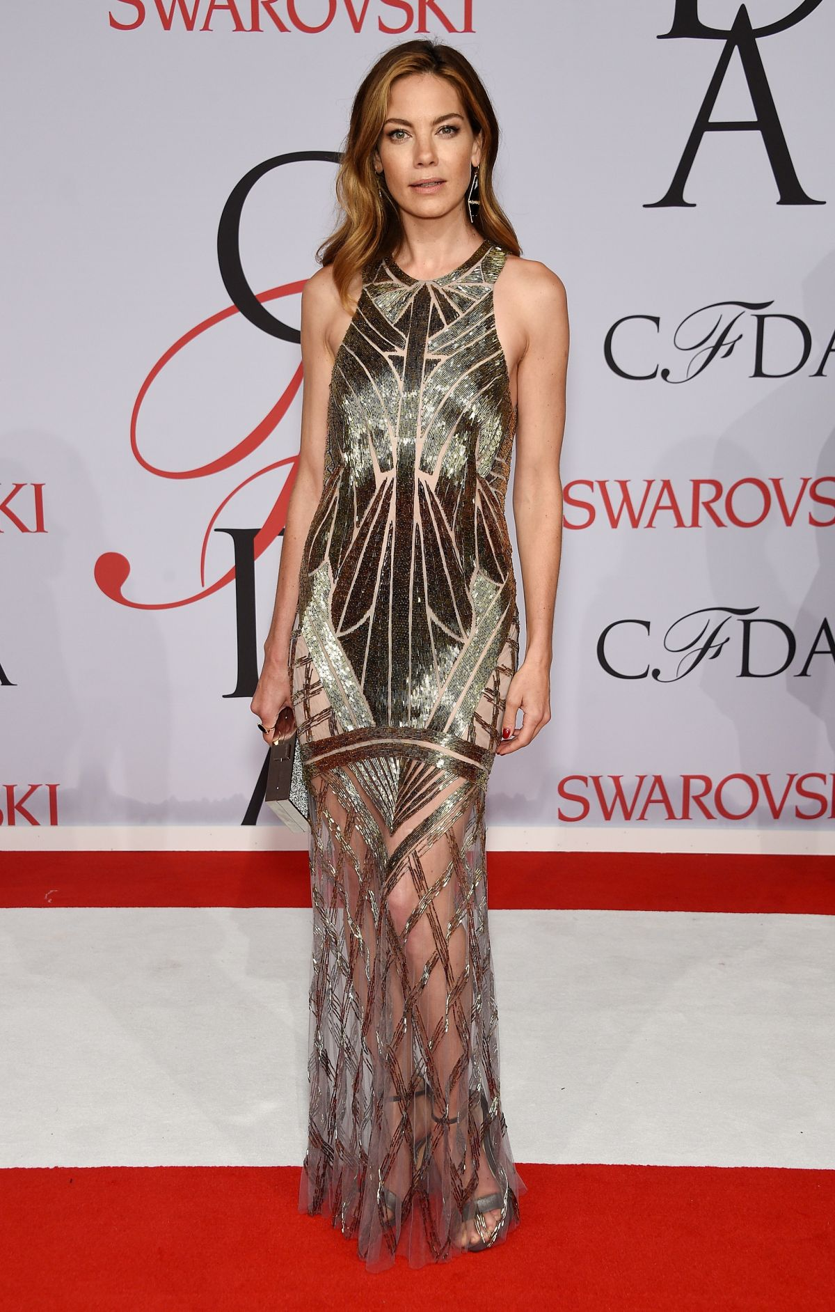 MICHELLE MONAGHAN at CFDA Fashion Awards 2015 in New York