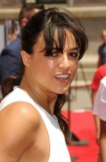 MICHELLE RODRIGUEZ at Fast & Furious Supercharged Ride at Universal Studios