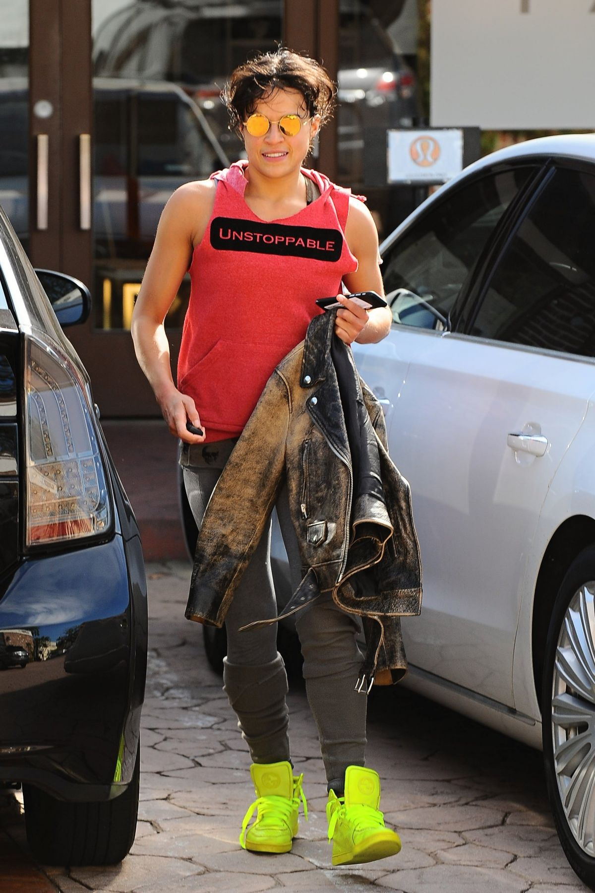 MICHELLE RODRIGUEZ Leaves a Gym in Los Angeles 06/15/2015