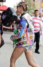 MILEY CYRUS Out and About in New York 06/18/2015