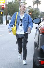 MILEY CYRUS Out Shopping in West Hollywood 06/06/2015