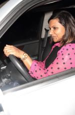MINDY KALING Night Out in Hollywood 06/26/2015