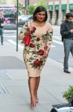 MINDY KALING Out and About in New York 06/17/2015