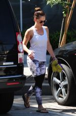 MINKA KELLY in Tights Leaves a Gym in Los Angeles 06/24/2015