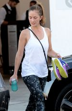 MINKA KELLY Leaves Rise Movement Gym in Los Angeles