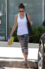 MINKA KELLY Leaves Rise Movement Gym in West Hollywood 06/19/2015