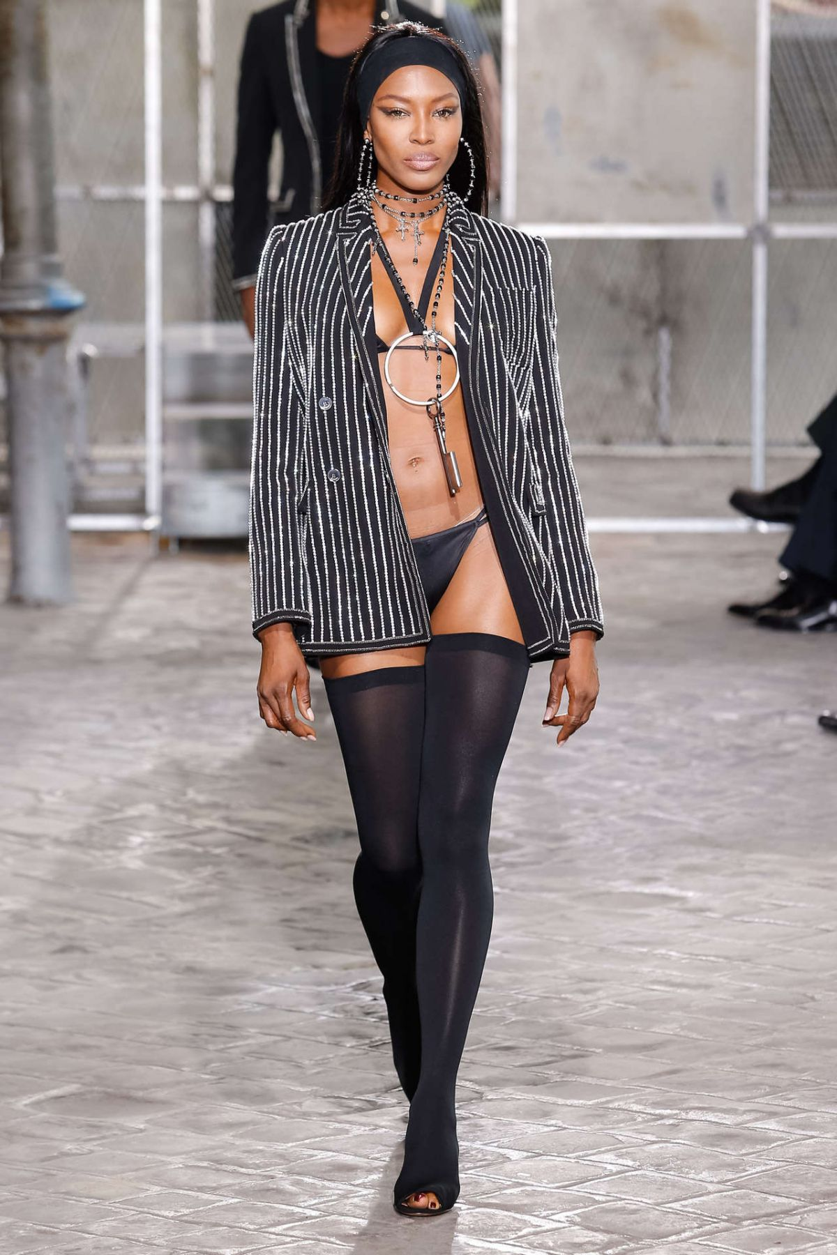 NAOMI CAMPBELL on the Runway of Givenchy Fashion Show in paris