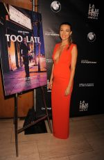 NATALIE ZE at Too Late Premiere at 2015 LA Film Festival