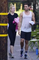 NICOLE KIDMAN at an Early Morning Spin Class on Her 48th Birthday in Los Angeles