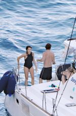 NIKKI REED in Swimsuit at a Boat in Italy 06/25/2015