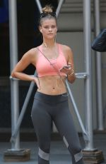 NINA AGDAL in Tank Top Out for a Jog in New York 06/11/2015