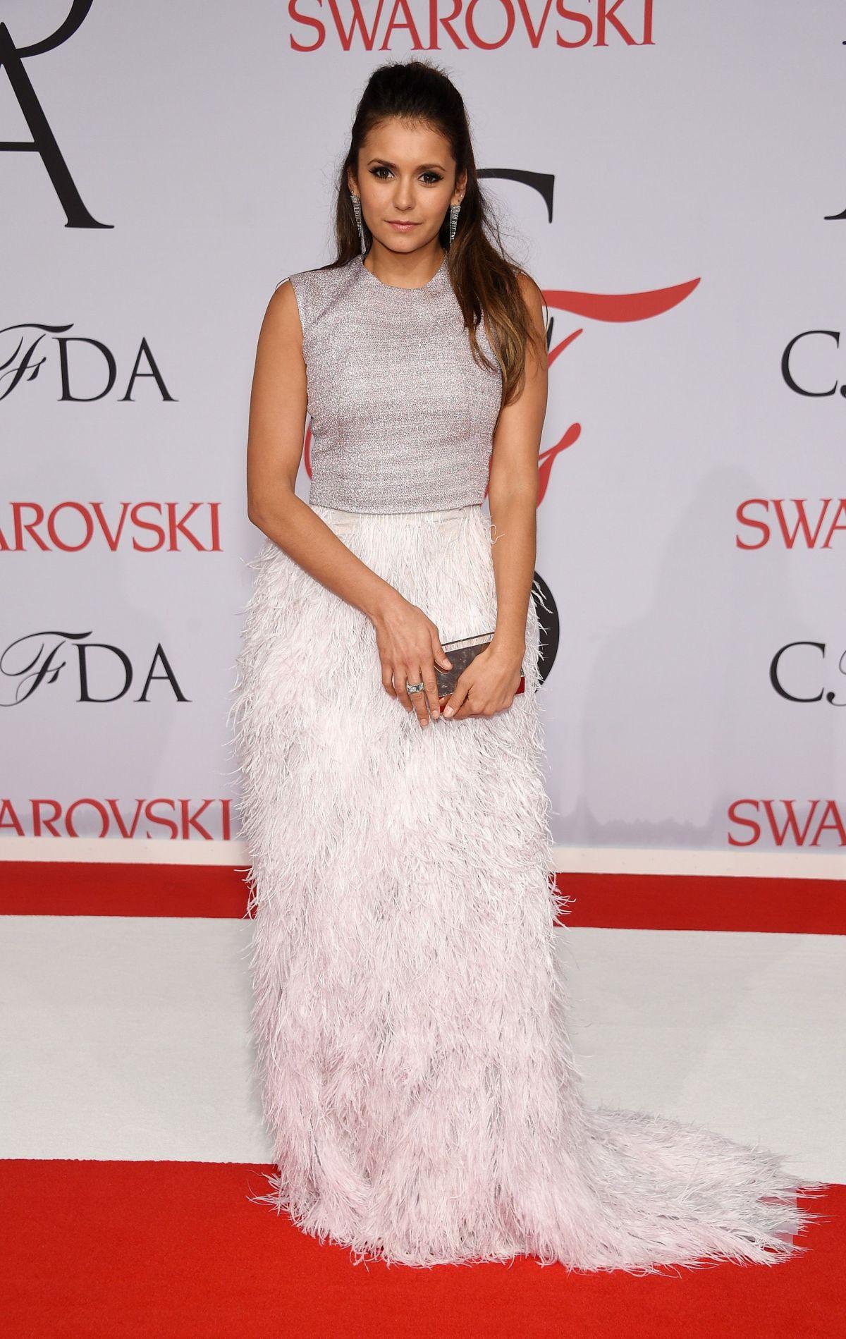 NINA DOBREV at CFDA Fashion Awards 2015 in New York