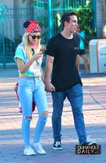 OLIVIA HOLT and Ray Kearin Out and About in Disneyland