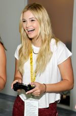 OLIVIA HOLT at 2015 E3 Gaming Convention in Los Angeles
